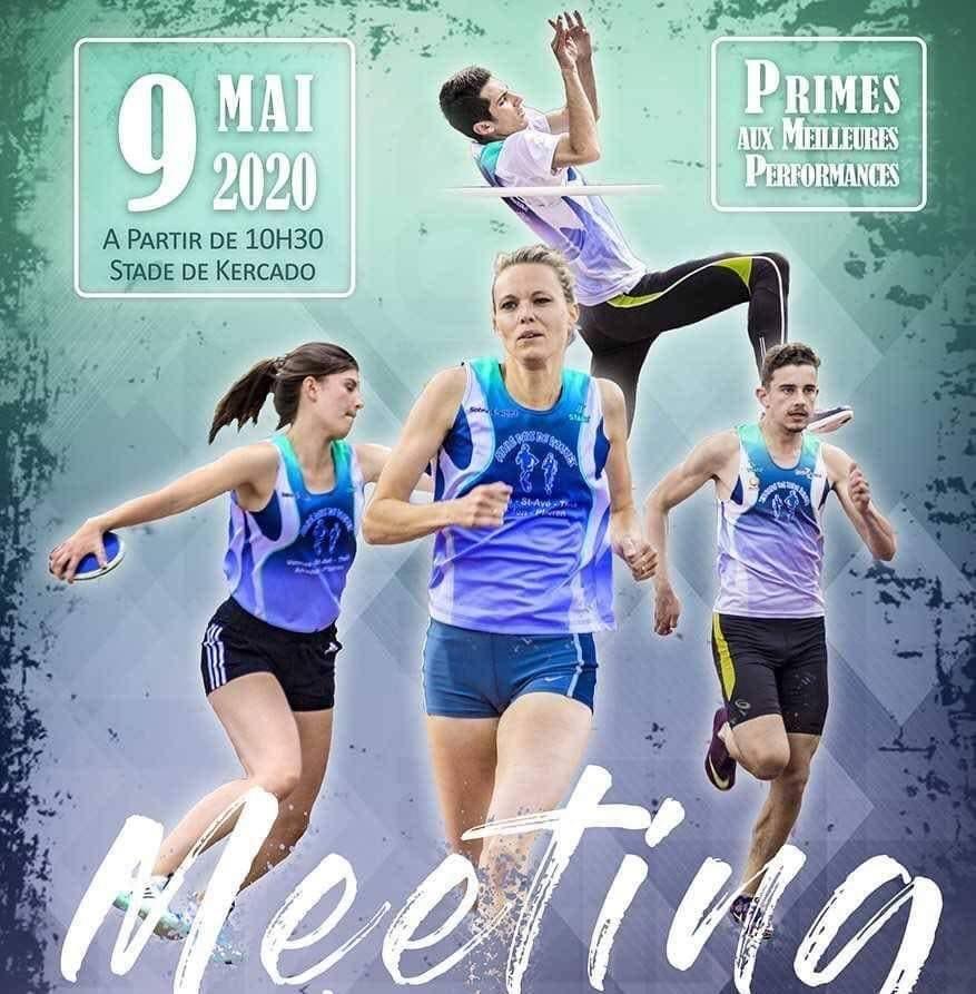 Meeting d'Athlétisme organisé par Athlé Pays de Vannes le samedi 09 mai 2020.